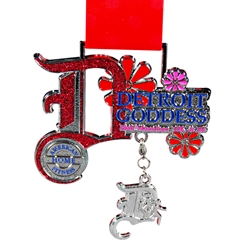 Custom Medal Dangle: Detroit Goddess